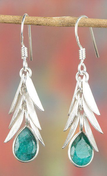 Emerald Jewellery – 925 Sterling Silver Emerald Earring BJE-346-EM – a unique…
