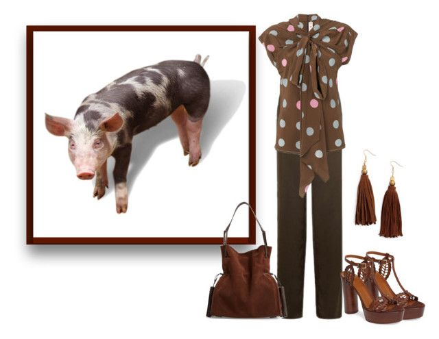 """Pietrain Pig"" by sjlew ❤ liked on Polyvore featuring Armani Collezioni, Marni, Aquatalia by Marvin K., AllSaints and Ink + Alloy"