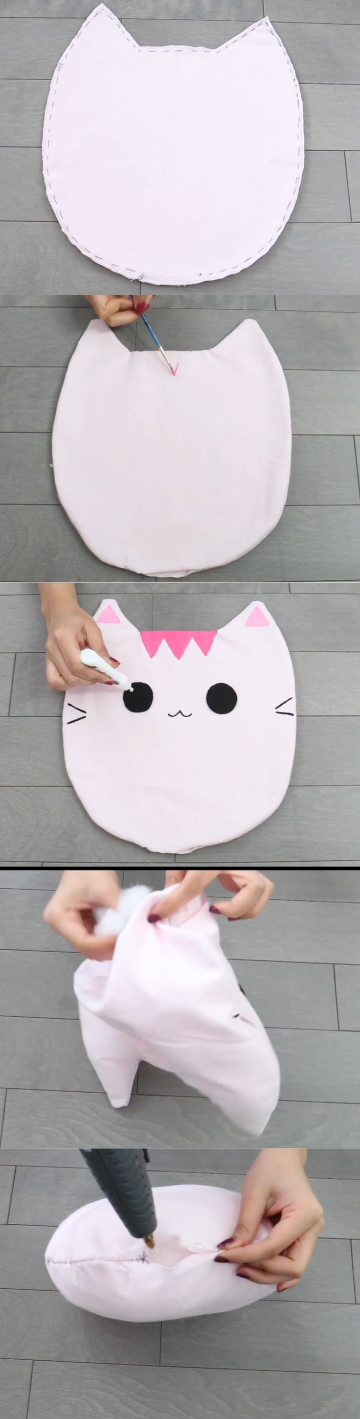 Nim C's Melissa/Oscar Cat pillow diy tutorial part 2. So cute!!!!