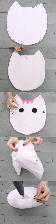Nim C's Melissa/Oscar Cat pillow diy tutorial part 2. So cute!!!!