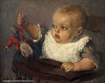 Περικλής Πανταζής (1849-1884), Παιδί με κούκλα. Πινακοθήκη Τελλόγλειου Ιδρύματος. Θεσσαλονίκη.
