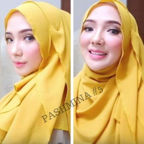 5 Tutorial hijab pashmina paling anggun – yang mana favorit kamu
