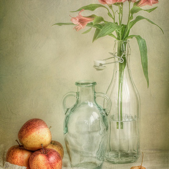 Apples and lillies