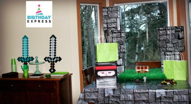 Parenting Healthy: Minecraft Birthday Supplies from Birthday Express