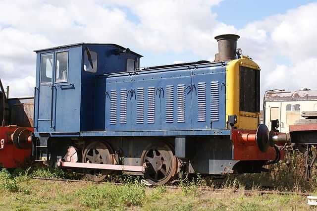"WD 0-4-0 diesel mecahnical shunter No.72222 ""Noah""; Built by Vulcan Drewry, Newton le Willows (No. of 1945) as a standard WD War Department shunter. 150 hp Gardner engine. At Long Marston Depot, Warwickshire, September 2010."