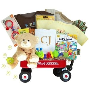 http://www.gotobaby.com/ – Whether it's a boy or a girl, buy the fabulous Kara Nessian personalized Radio Flyer Wagon gift set at Go To Baby to delight new parents and baby.