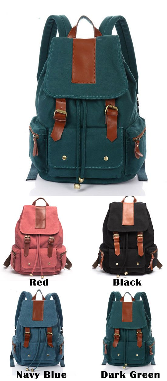 Are you ready the new school backpack for next year?  Retro Nice Big Leather Travel Canvas Backpack for big sale ! #backpack #travel #bag #rucksack #school #canvas #large #student #retro