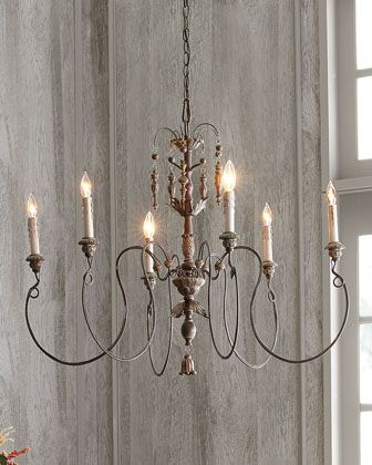Salento Vintage-Copper Six-Light Chandelier at Horchow... was an option for the Study.
