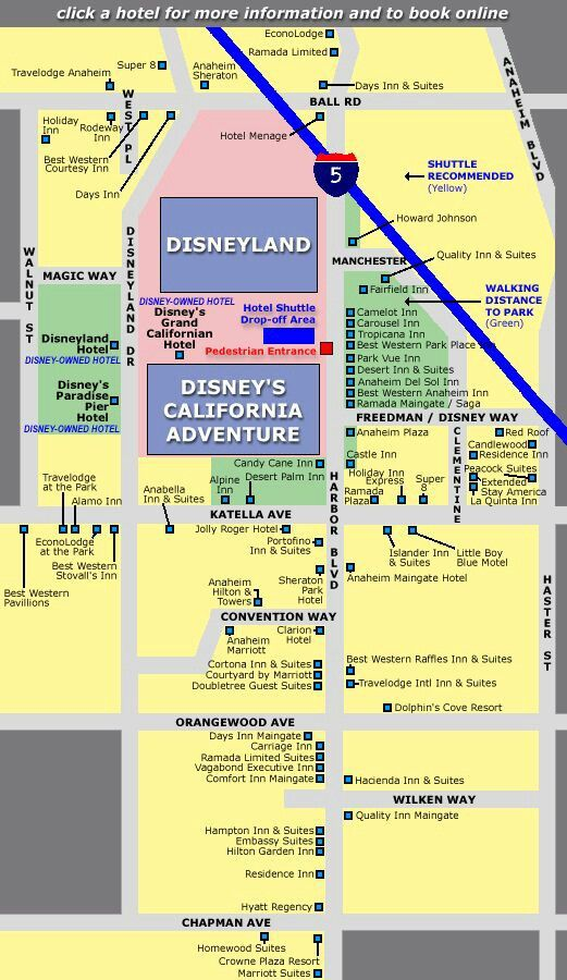 Hotel proximity to Disneyland