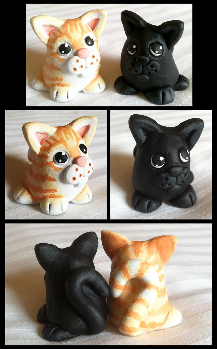 Sculpy Kitties by Kata.deviantart.com