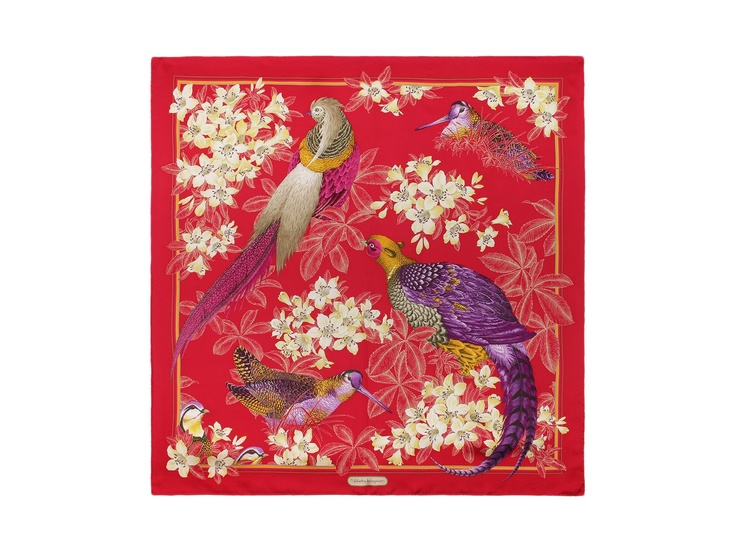 Ferragamo 'Iconic Birds' silk scarf