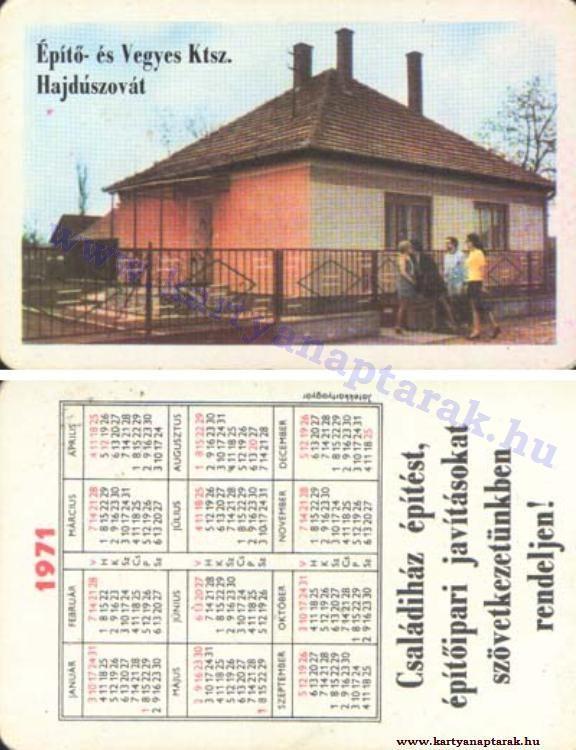 1971 - 1971_0572 - Régi magyar kártyanaptárak