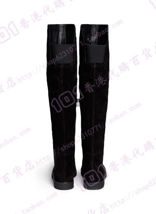Шопинг в Гонконге Винс 2014 осенние и зимние сапоги высокие черные замшевые туфли школа голосовать - Taobao