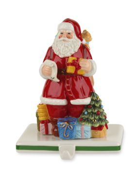 Spode Santa Stocking Holder - Green - 5.75
