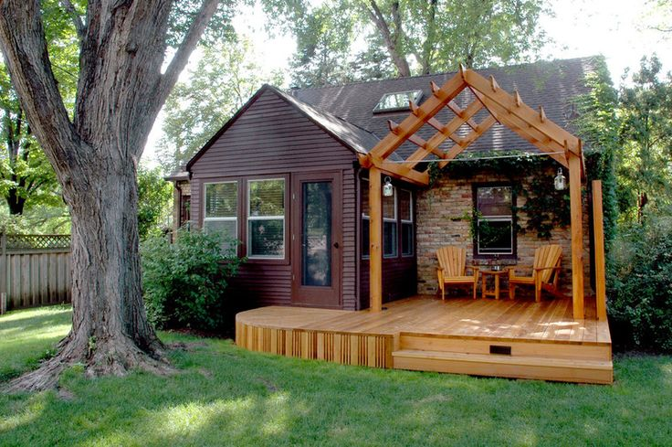 Add a deck or patio. If you can't seem to find even an inch more to squeeze out of your interior, try expanding your living space outside.