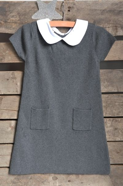 The Outlet :: CHARCOAL TRAPEZE DRESS SIZE 3 - Olive Juice | Childrens Clothing | Girls Dresses | Kids Clothes | Girls Clothing | Classic Kids Clothing
