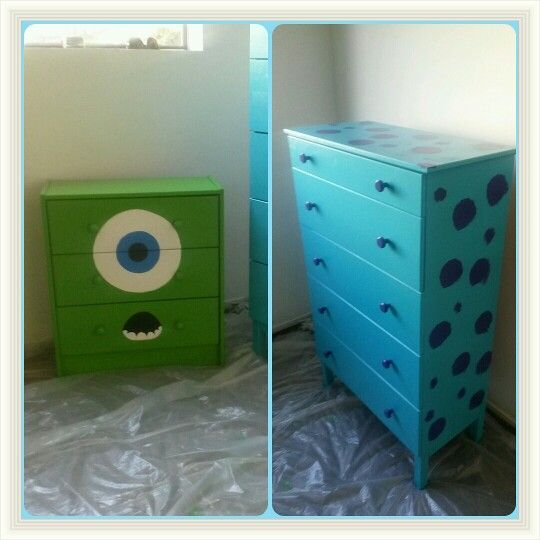 Monsters inc dressers  mike wazowski, sulley sullivan