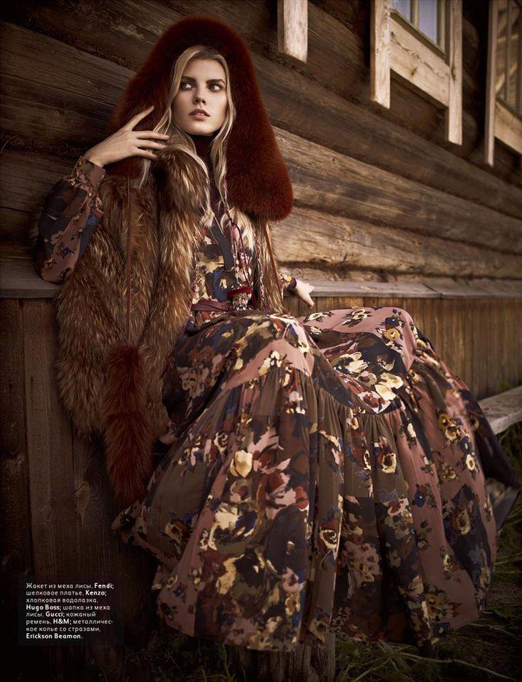 Maryna Linchuk by Mariano Vivanco | Vogue Russia