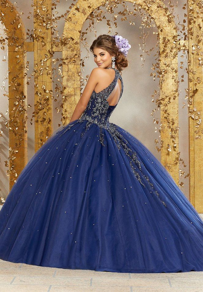 c32349c68ac Rhinestone and Crystal Beaded Embroidery on a Princess Tulle Ballgown  89236