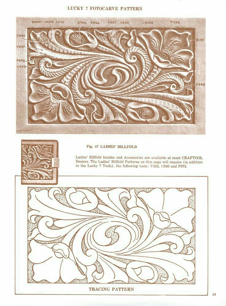 Best leather tooling patterns images on pinterest