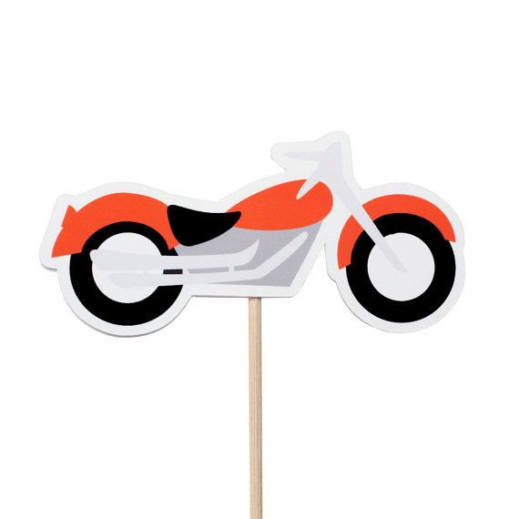 Motorcycle Cupcake Toppers  Motorcycle Birthday by MakeItMerryShop                                                                                                                                                                                 More