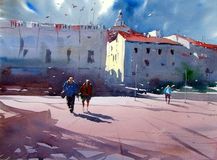 #Watercolor of #Cadeques Northern Spain