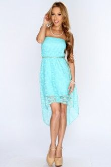 Jade floral lace high low hem dress with style pinterest high