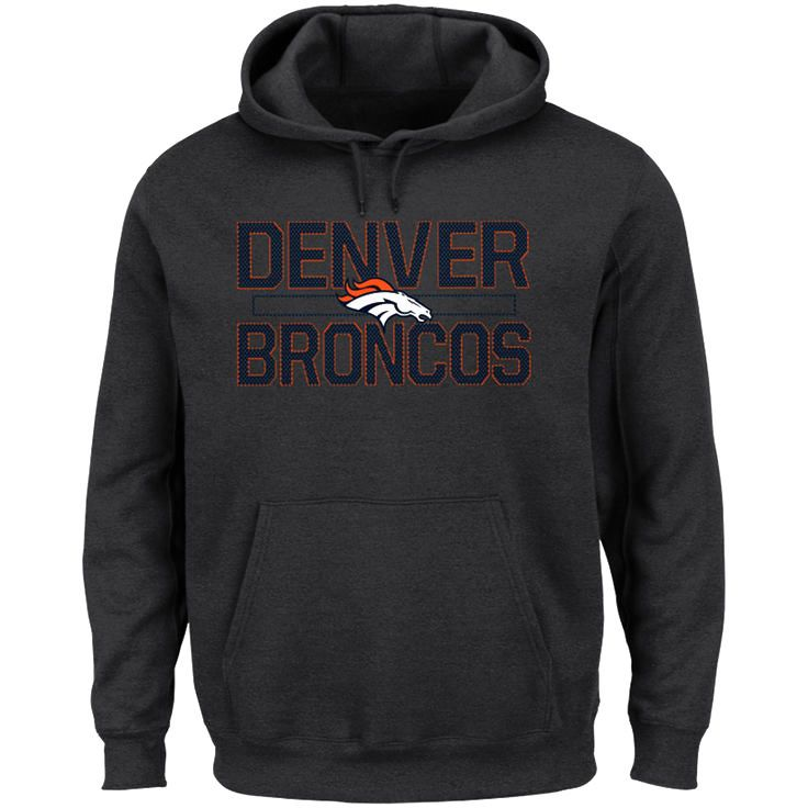 Denver Broncos Majestic Big & Tall Kick Return Pullover Hoodie - Charcoal - $51.99
