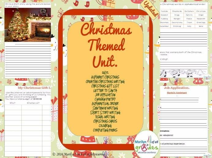 A Mini Christmas Unit of Activities