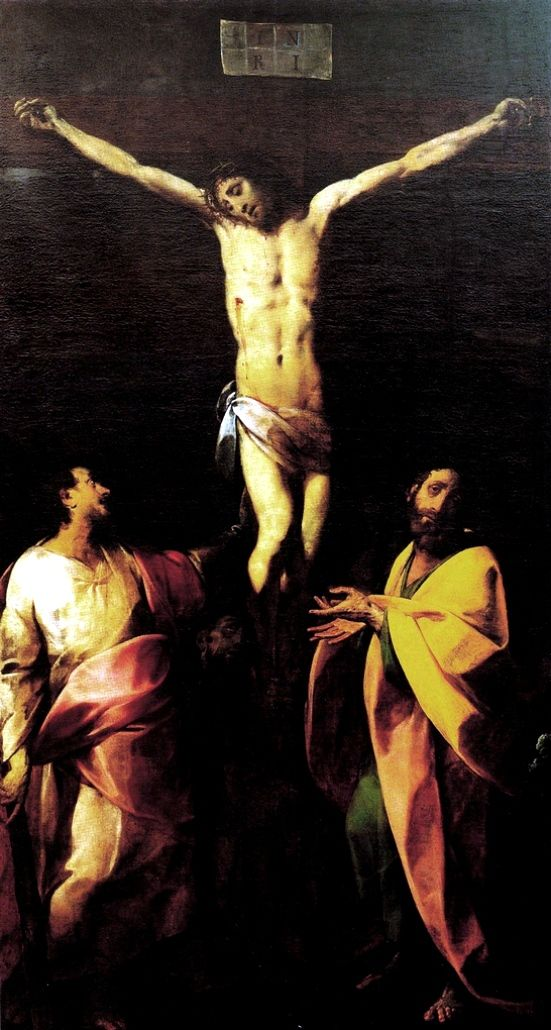 Giovanni Battista Crespi, detto il Cerano - Cristo Crocifisso e Santi - 1625