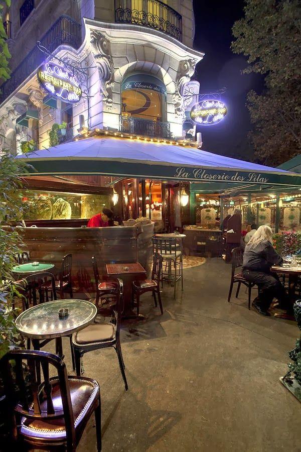 La Closerie Des Lilas, Paris ~ a favorite of the writer, Ernest Hemingway