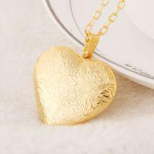 Gorjuss drijvende charm medaillon ketting 18 k goud mode minnaar romantische hart foto childs vriendschap hanger kettingen voor vrouwen(China (Mainland))