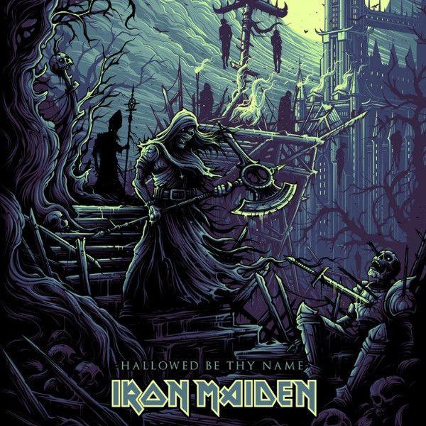 Iron Maiden - 2017 Dan Mumford poster hallowed be thy (they) name
