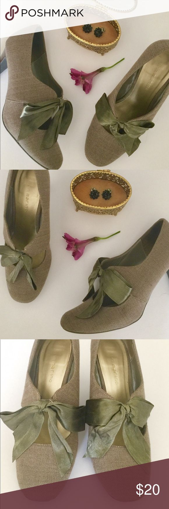Librarian chic tweed oxford pumps These are a gorgeous pair of tweed retro style pumps. In good condition, normal wear. Would look great with a anthro dress, glasses, and brown leather satchel in the fall. Ann Marino Shoes Heels