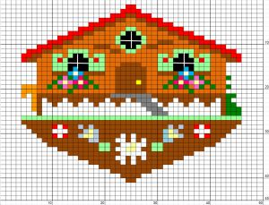 montagne - mountain - point de croix - cross stitch - Blog : http://broderiemimie44.canalblog.com/