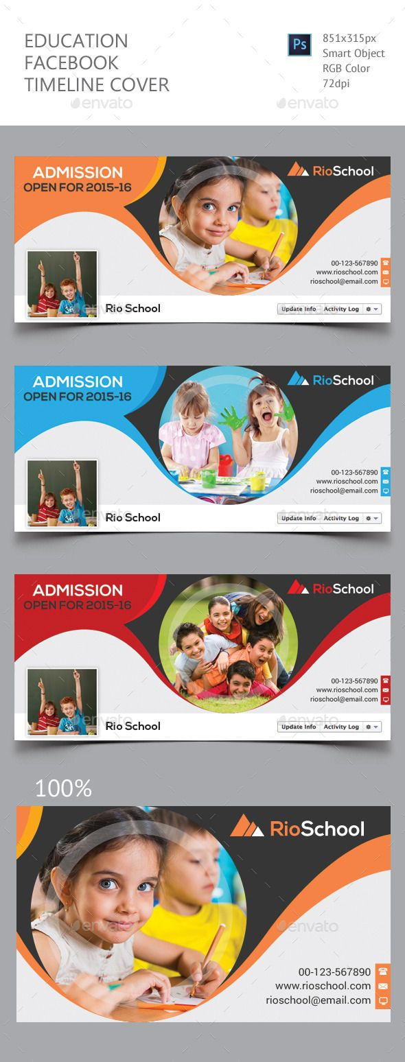 Education Facebook Timeline Cover Template Psd #design Download:  Http://graphicriver.