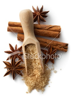 Baking Ingredients: Cinnamon, Anise and Sugar   Stock Photo   iStock