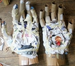"""Instructions for making a giant puppet and an """"El Tigre"""" head (learn more about making giant puppets at The Fearless Face of Puppetry March 9-10 wppuppet.com)"""