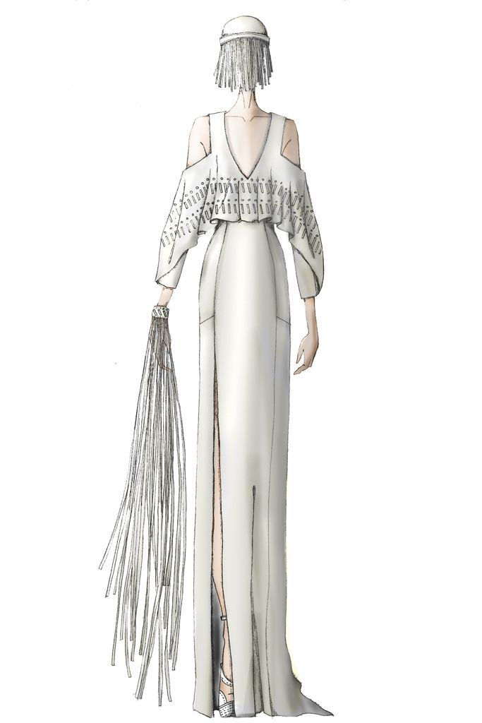 Lady Gaga wedding gown imagined by Rebecca Minkoff [Courtesy of the designer]
