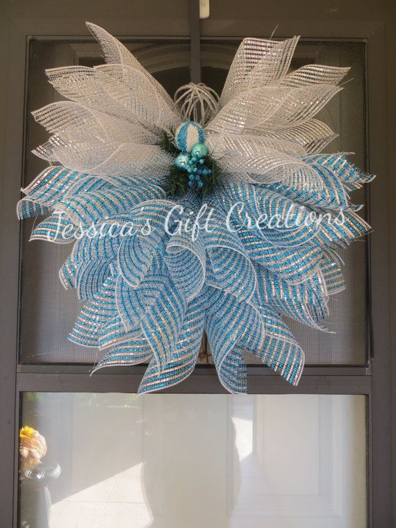 Made To Order Family Name Deco Mesh Wreath Door Wreath