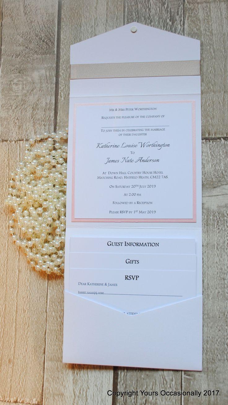 mini book wedding invitations uk%0A Pearl Passion Pocketfold Invitation        each