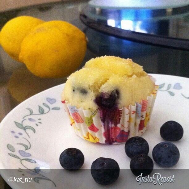 Blueberry Lemon Muffins by Best of Bridge.    So good!