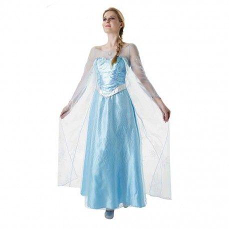 Disfraz Elsa Frozen para Adulto Elegante disfraz de Elsa Frozen para adultos, este disfraz está disponible en versión infantil. En mercadisfraces podrás comprar tus disfraces originales y baratos con envíos 24 horas. http://mercadisfraces.es/dibujos-animados-y-cuentos/disfraz-elsa-frozen-para-adulto.html?search_query=810243&results=1