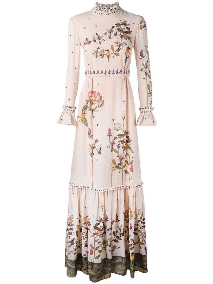 Vilshenko floral print maxi dress