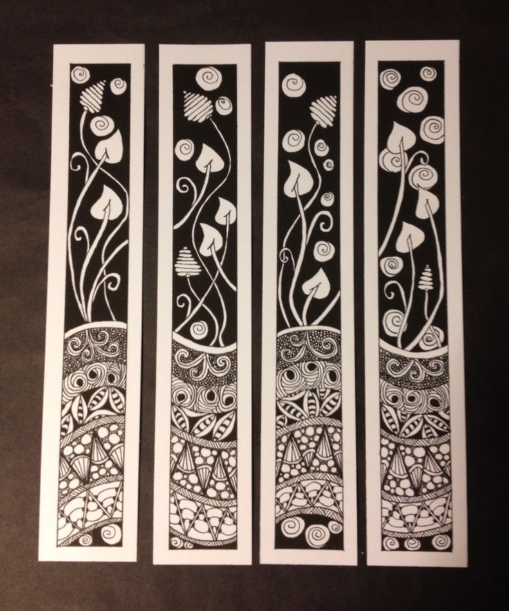 Zentangle Bookmarks or frame them all together. Hmmmmmmm..........