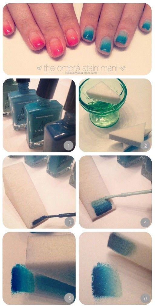Nail Art / nail polish, nail polish, and more nail polish. i never reaized you had to wet the makeup pad. well now i know!