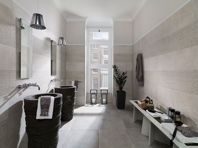 Porcelanosa park acero master bath wall tile bathroom - Salle de bains porcelanosa ...