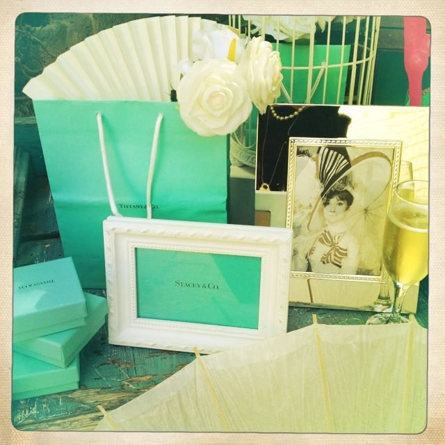 Breakfast @ Tiffany's Themed Hen's Party - Entrance Table - Stacey@Co Frames / Audrey Prints