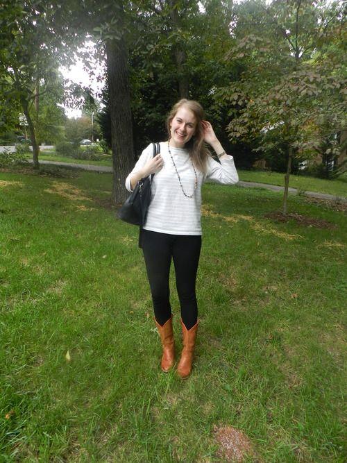 fall: black + cognac boots
