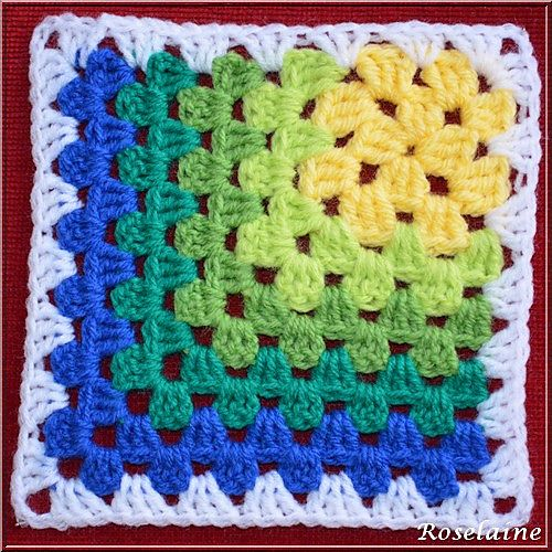Ravelry: Modern Mitered Granny Square pattern by Sue Rivers                                                                                                                                                      More